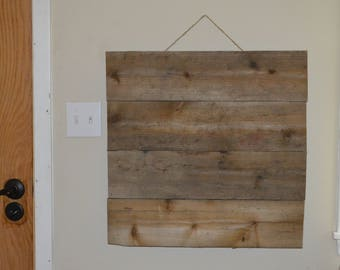 "Blank Weathered Wood Sign 24"" x 24"""