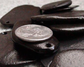 Black Sandstone Pendants 4 Pack