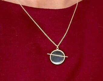 "Pendant of shungite ""Joy"", Schungite healing, EMF protection,Present for her,Schungit necklace,Healing crystal,Boho necklace, reiki, chakra"