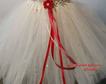 very pretty little white soft tulle skirt/petticoat off.