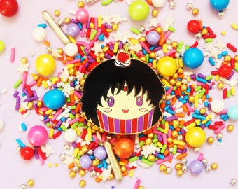 Sailor Moon Enamel Pin - Sailor Mars Cupcake