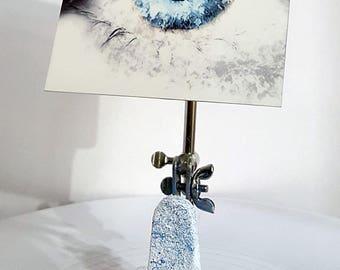 digital eye, digital print, aluminum, digital art, eye art, eyes, soulful, unique art, sculpture, metal art, fine art, art, white, blue,