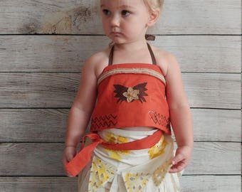 Moana costume, Moana outfit, baby Moana dress, Moana birthday, toddler Moana, disney Moana, Halloween costume, Toddler Halloween Costume