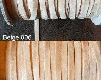 1 m cord 5mm, assorted colors Alcantara