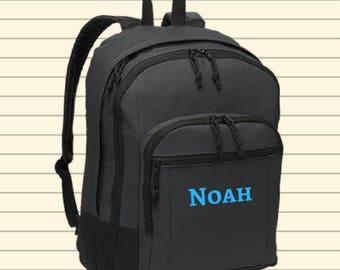 Personalized Monogrammed Backpack Book Bag - Preschool Monogram
