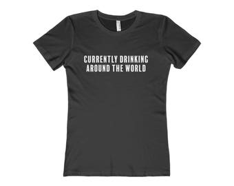 Currently Drinking Around The World - Epcot - Womens Disney Shirt