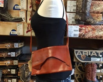 Red Leather Bag with Leather Strap