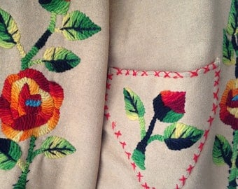 1960s/1970s Wool Jacket with Embroidered Roses