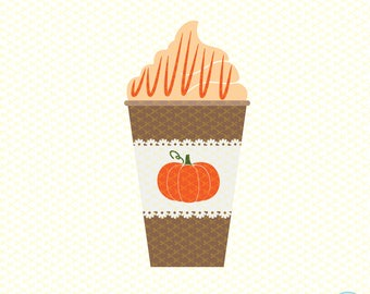 Pumpkin spice SVG, DXF, PNG, Eps Cutting File, Coffee Svg File, Latte Svg, Pumpkin Svg, Latte Svg for all Cutting Machines
