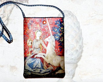 """The Unicorn Lady"" shoulder pouch"
