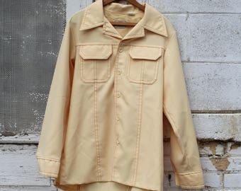 Vintage 70s Levi Panatela Button Up