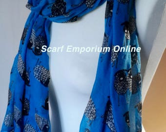 Blue Sheep Summer Autumn Scarf / Fashion Accessories / Women Scarves / Gifts For Her