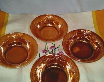 Anchor Hocking Fire King Berry Dessert Bowls - Set of 4