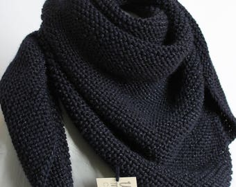 trendy color Navy Blue shawl