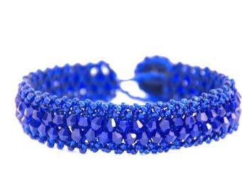 Azure Blue Bracelet, Crystal Bracelet, Blue Bracelet, Gift for Her, Mothers Day Gift, Bridesmaid Gift, Wedding Jewellery, Crystal Jewellery