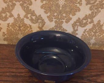 Haeger Floral Cobalt Blue Bowl with original label
