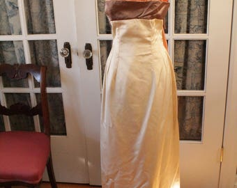 1950's Evening Gown with Bow in Back