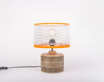 Elegant Medium Lego Brick Art Lamp by WarrenBrickArt