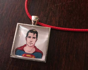 Superman/Clark Kent original fan art pendant neckalce!