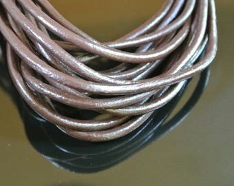 4 mm Brown round leather cord 50 cm
