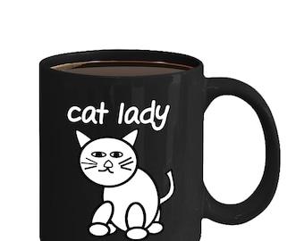 Cat Lady, Funny Mug, Cat Lover Mug, Cat Mug, Funny gift