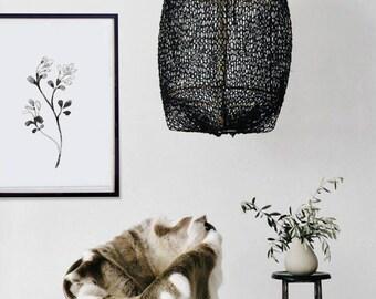 Affiche Fleur Arbre Nature Poster Feuille Tableau Feuille Dessin Cadre Nature Affiche Déco Salon Hygge Noir Blanc Affiche Zen Décoration Art