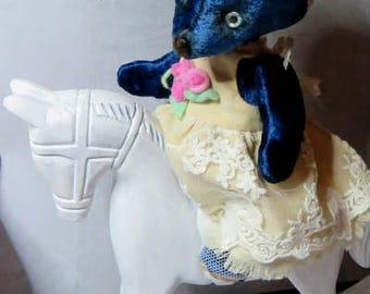 Pattern Teddy Bear + Dress. Beatrice.