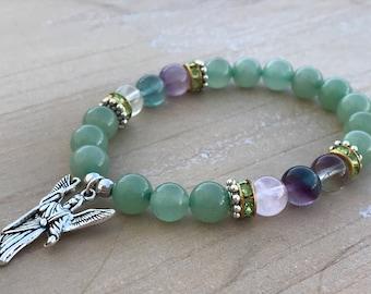 Archangel Raphael Bracelet, Aventurine bracelet , Fluorite bracelet, Archangel Raphael, angelic bracelet, spiritual bracelet, spirituality