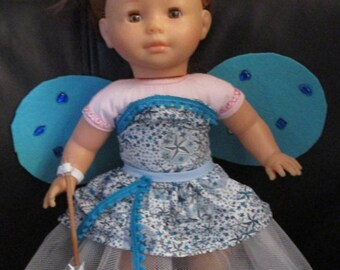 garment my 36 cm Corolle doll outfit blue fairy wings and wand