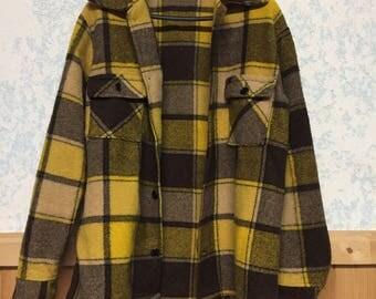 Mens Vintage Fleece Plaid Jacket