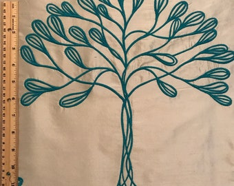 Embroidered Tree Fabric