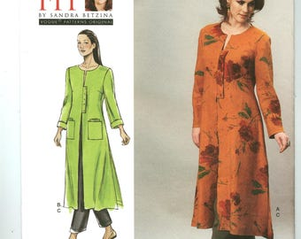V1356 Today's Fit - Betzina - Vogue - UNCUT Sewing pattern - Misses Unlined Duster & Pants - All Sizes