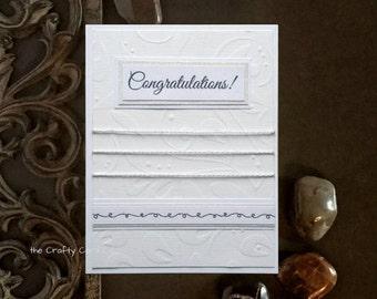Elegant wedding card Congratulations card Wedding card for couple Anniversary card for couple Boho wedding card Celebration card