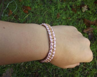Bracelet, Braided Bracelet, Double-sided bracelet,  Gentle bracelet.