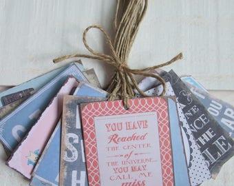 Set of 16 decorative vintage labels