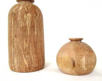 Small wooden vase, rustic vase, home interior, wood vase, modern vase, wood centerpiece, turned vase, wooden art