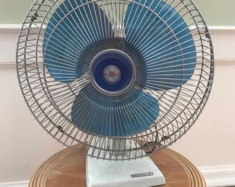 Vintage Metal Fan, Industrial Fan, Toastmaster Fan, Mid Century Fan, Retro Fan