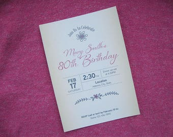 Birthday Invitation (Customizable)
