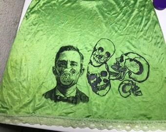 Punk half slip lime green