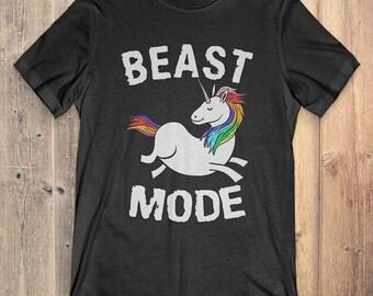Funny Unicorn T-Shirt Gift: Beast Mode