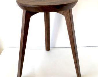 modern bespoke contempoary wood american black walnut side table
