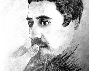 Robert Downey Jr., Print, Pencil Drawing