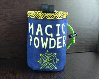 Rock climbing Chalk bag  Magic powder Sun Chalk bag climbing Gift for climber Funny chalk bag