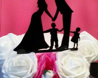 Wedding Cake Topper,Family Cake toppers, Bride and Groom cake topper, Custom Cake Topper,Mr And Mrs Cake Topper, Family Love Cake Topper