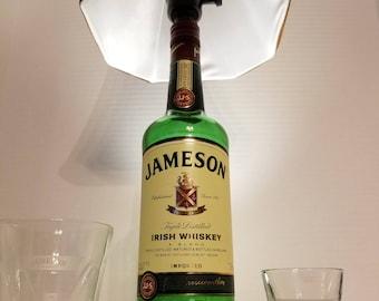 "Jameson Irish Whiskey Bottle Lamp. 19"" Tall. 7' Cord. Whisky, Jameson's, bar, lamp, Man Cave, Mancave"