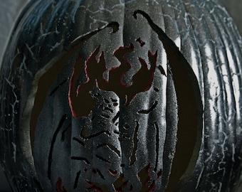 Chernabog- God of Night, Evil, & Death- Carved Foam Pumpkin