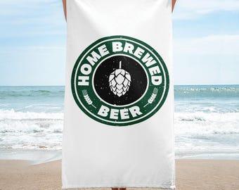 Home Brewed Beer Homebrew Towel