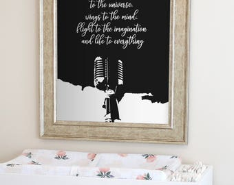 Quote about Music, Gift for Musician, Music wall art, Gift for music lover, Music art print, Musician print, Microphone Print, Instant Print