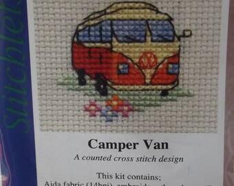CAMPER VAN ~ Mouseloft Stitchlets ~ Mini Cross Stitch Kit