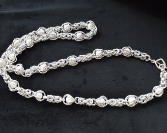 Beaded Chainmaille Necklace